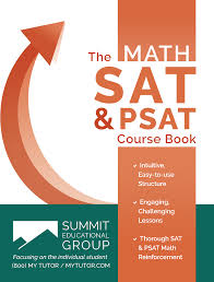 sat psat course book reading writing language and essay  sat psat course book math