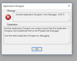 PeopleSoft Errors 101 - Another Application Designer is the Debugger
