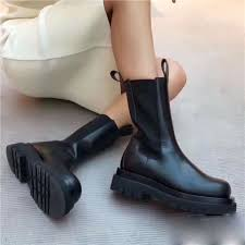 Easy, quick returns and secure payment! 2021 New Winter Genuine Leather Chelsea Boots Women Platform Ankle Boots Flat Botas Mujer Ladies Slip On Short Booties Ankle Boots Aliexpress