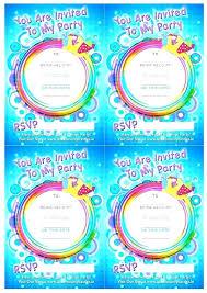 Pool Party Invite Template Birthday Invitation Child