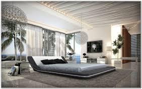 modern platform bed with lights  bedroom design ideas