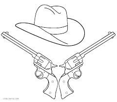 Cowboy Hat Coloring Page Cowboy Printable Coloring Pages Free Cowboy