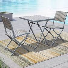 corliving 3pc sun bleached grey outdoor