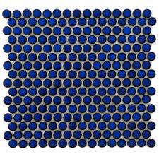 merola tile hudson penny round blue eye 12 in x 12 5 8