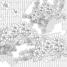 和の世界 花鳥風月ぬり絵帖 大型本 Amazon Nhật Fadovn