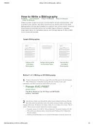 4 Ways To Write A Bibliography Wikihow Citation Apa Style