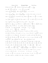 while we re posting formula sheets here s the one from my e m final last year it s a definitive guide to all the useful equations from the griffiths text