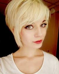 Girl with short blonde hair