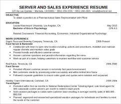 Sample Food Server Resumes Sample Food Service Resume 6 Documents In Pdf Word