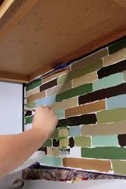 Diy Backsplash Affordable Diy Backsplash Mosaic Tile Paint Project