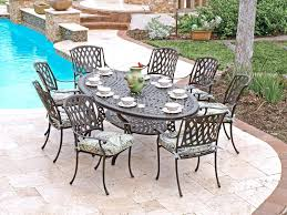 cast aluminum outdoor dining set the amazing oval patio dining sets cast aluminum patio with aluminum