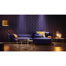 Pure Home Lifestyle Wohnlandschaft Blau Velours