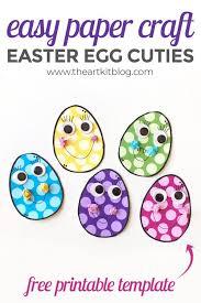 Free Craft Printables Templates Cute Bunny Paper Craft With Free Printable Template The