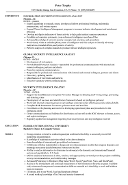 Intelligence Analyst Resume Examples Security Intelligence Analyst Resume Samples Velvet Jobs 10