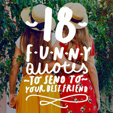 Funny Best Friend Quotes Enchanting 48 Funny Quotes To Send To Your Best Friend Bright Drops