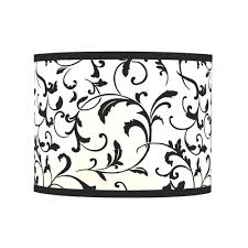 Black Drum Lamp Shade with Spider Assembly | SH9515 | Destination ...
