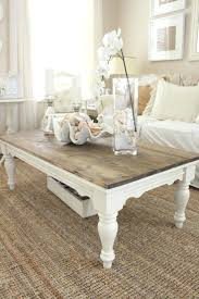 shabby chic round coffee table beautiful oak claw foot with a white chippy finish uk