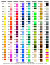 Isacord Thread Chart With Color Names Exquisite B13070 Real Thread 300 Color Card Chart 40wt Poly