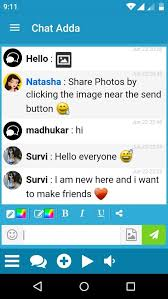 Join Chat Adda chat rooms  meet new people  chat  share and make new friends with strangers and don     t forget to invite your friends to join chat adda