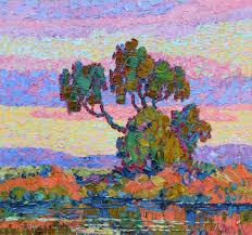 birger sandzén sunset painting american van gogh artist daily