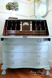 painted secretary desk hutch secretary desk makeover chalk by after inside with gold hand painted secretary