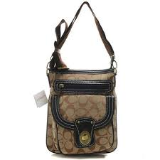 Savings And Discounts Coach Willis Lock In Signature Small Khaki Crossbody  Bags FH4513