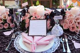a pink and black sweet 16 party with