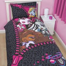 Monster High Bedding Set Cozy Home Mattel Right To Fright Comforter ...