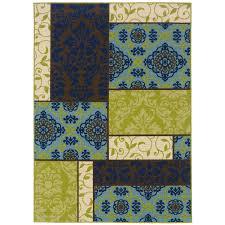 oriental weavers caspian 7 10 x 10 10 indoor outdoor rug 3066v