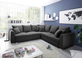 Details Zu Couch Sofa Eckcouch Ecksofa Schlafsofa Schlafcouch Wohnlandschaft 274cm Grau