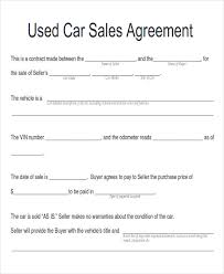 Used Vehicle Sales Agreement Template - Emsec.info