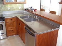 crown steel mfg stainless copper zinc countertops with countertop built in sink designs 49