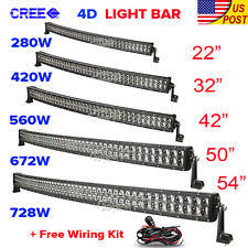 ford f53 xenon lights 4d cree 32inch 42 50 52 inch 4 18w curved led light bar offroad driving 4x4wd fits ford f53