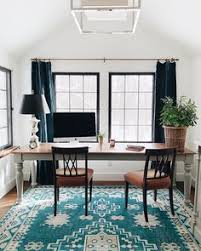 office at home design. Featuring Geometric Medallions And A Traditional Bordered Design, This Rug  Brings Bohemian-chic Look To Any Room. We Love The Saturated Blue Office At Home Design I