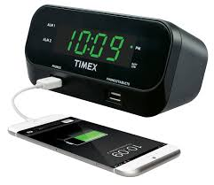 timex t129 rediset dual alarm clock with dual usb charging and battery backup com