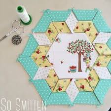 English Paper Pieced Starlight Bouquet Quilt Kit   Sew and Quilt