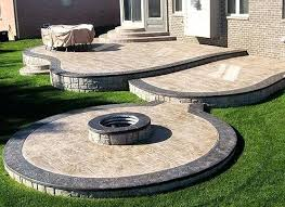 stamped concrete patio with fire pit cost. Cool Stamped Concrete Patio Best Ideas About Patios On In Backyard With Fire Pit Cost