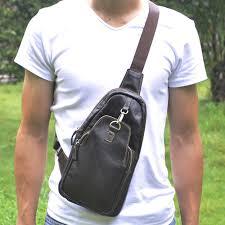 Man Cross Body Bag Designer Us 26 9 31 Off Genuine Leather Real Cowhide Sling Chest Day Back Pack Vintage Trend Men Cross Body Bags Designer Single Shoulder Messenger Bag On