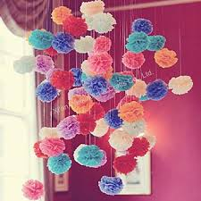 Tissue Paper Flower Wall Art Colorful Hanging Tissue Paper Flowers 2015 Buy Hanging Tissue
