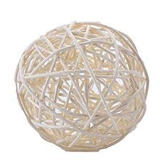 White Rattan Decorative Balls