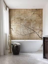 Glass Mosaic Wall Murals  Jinyuan Mosaic 24K Fake Gold Foil Leaf Bathroom Wallpaper Murals