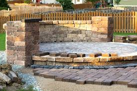 patio flooring choices. spaceinexpensive full image for circular brick patio stands over pebble bed with wall surrounding elevated patterned flooring choices l