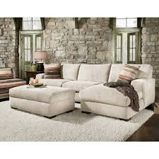 faux stone walls and french doors with microfiber sectional sofa also ottoman coffee table and sectional
