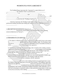 sample of contracts 017 wedding planner contract example agreement last sample