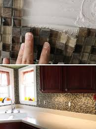 tile wall covering on a backsplash