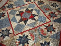 Reach for the Stars With Star Block Quilts & Res, White and Blue Quilt with Star Blocks Adamdwight.com