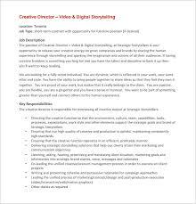 director job description 7 creative director job description templates free premium