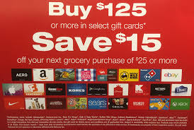 vons safeway black friday gift card promo spend 125 and get 15 off 25