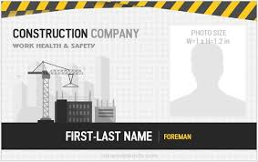 Company Id Badge Template 5 Best Construction Workers Photo Id Badges Microsoft Word