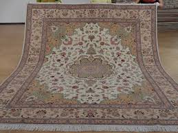 8 x 10 hand knotted brand new wool and silk sino persian tabriz oriental area rug 12980605 goodluck rugs